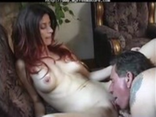 sexy couple go at it is on the bed aged older