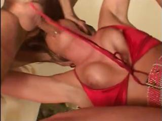 nasty blond milf takes on long dongs and gets