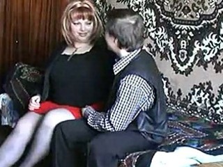 russian older redhead fucking with a guy