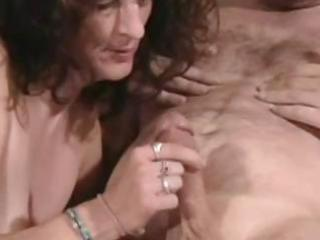 aged wife pleasured large dick