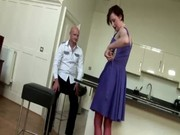 aged british wench tempts jock