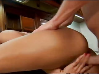 latina aged receives fucked in her kitchen