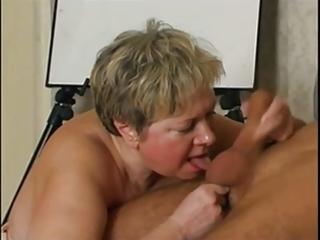 russian granny likes pecker