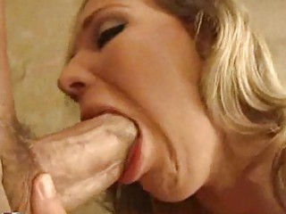 mature doxy with ramrod engulfing lips squeezes