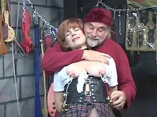 sexy, older redhead gets her twat toyed with,