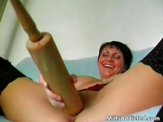 perverted short haired mommy is insane as she