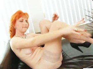redhead mom dildos shaggy muff