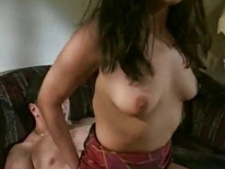 hot brunette milf acquires nailed on ottoman