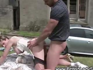 lascivious british mature doxy receives a spunk