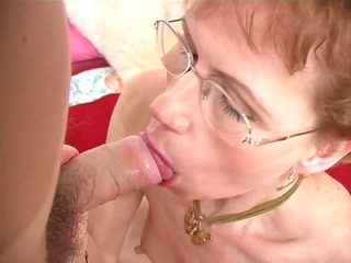 mature broad shows her blow job skills - ant