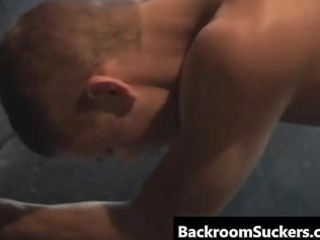 Homosexual hard core intercourse up his Back Room