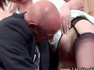 older stocking irrumation bawdy cleft licking pair
