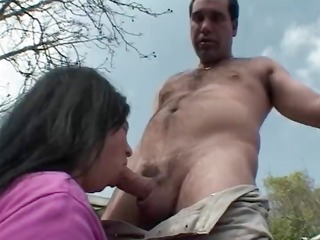 flabby dark-haired oldie acquires drilled
