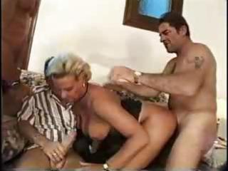 busty blonde milf group-sex