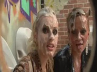 sexually excited european milfs wet in ball cream