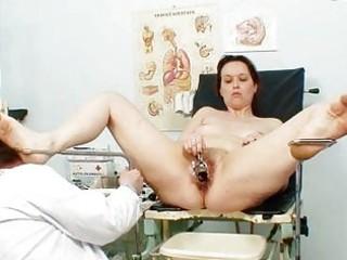 unpretty older wife at pervy gyno doctorhttpww