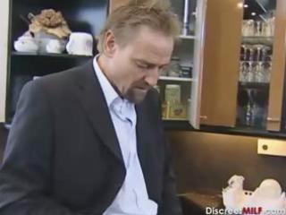 busty redhead german older gets anal