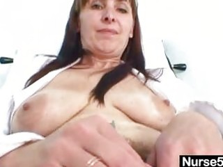 older mama karin shows off shaggy pussy extreme