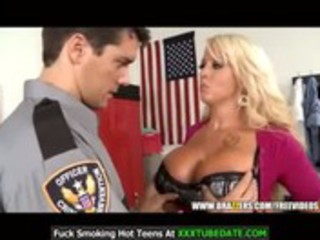 big-tit milf is frisked and screwed by a cop