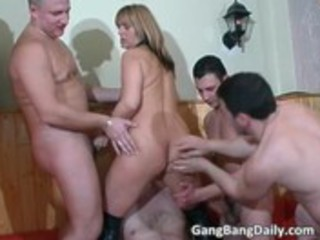 france gang gangbang act with lewd milf