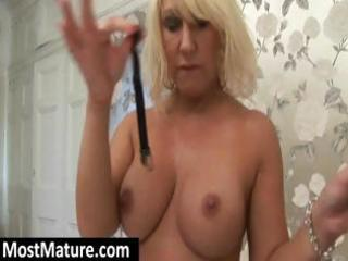 breasty golden-haired mother i teases as she is