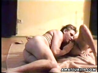 aged amateur wife sucks and fucks with jizz flow