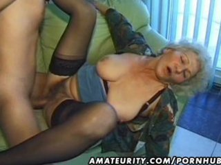 old non-professional aged wife sucks and bonks