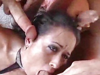Massively busty milf whores gobble up twice the