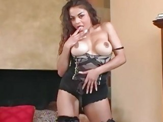 busty d like to fuck teases in nylons a bra and