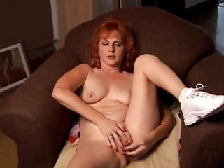 aged non-professional redhead squirts