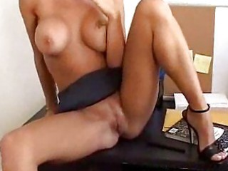 Blonde milf sucks cock in the office place