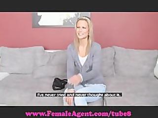 femaleagent. ambisexual blond beauty