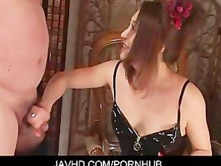 mistress koran thraldom cock jerking foot job