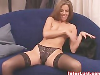 hawt wife in sexy lingerie and stockings