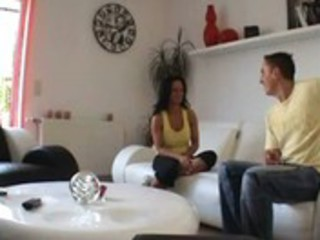 brunette wife, spouse and neighbors - -