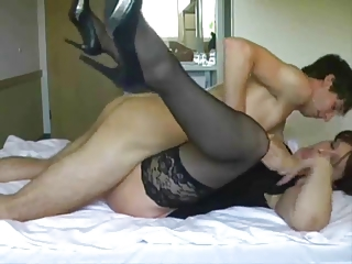 big-tit older receives fucked and facialed by
