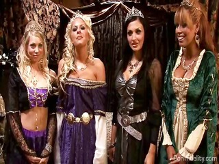 king and queen have a medieval fuckfest with four