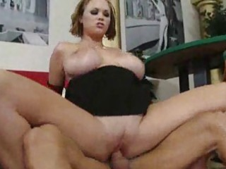 busty milf sucks schlong and drilled in cookie