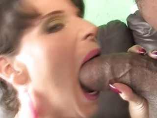 breasty milf riding a dark dong to save her son