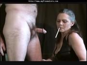 sexy granny cougar smoking blowjob mature older