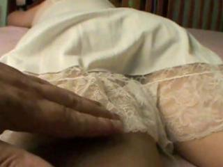 large concupiscent wife receives rubbed on her