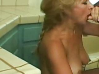 Hot mature blonde likes ebony cock