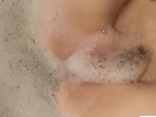 redhead mamma pleasures her soapy twat