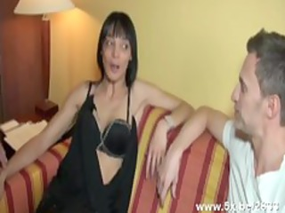 darksome haired emilia screwed in all holes by