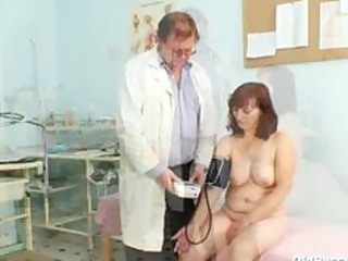 zita older woman gyno speculum exam at clinic