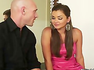 allie haze meets with married chap to gag on his
