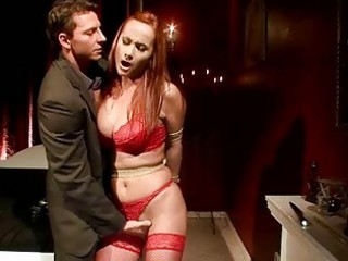 busty redheaded d like to fuck gets bondaged and