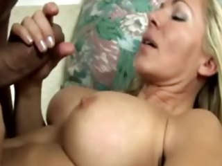 lewd blond milf engulfing pecker for this