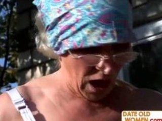 unsightly hairy granny bonks