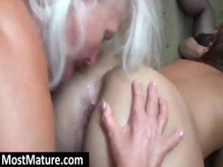 sexually excited grannies have a hawt lesbo